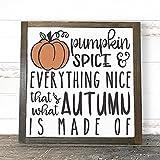 Pumpkin Sign, Pumpkin Spice Sign, Fall Sign, Pumpkin Decor, Autumn Signs, Farmhouse Sign, Farmhouse Decor, Fixer Upper Decor, 12x12