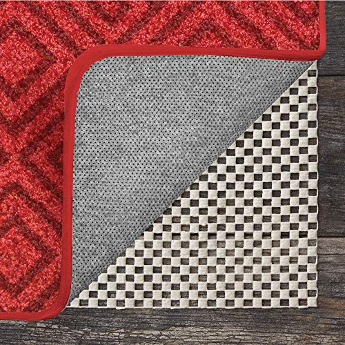 GRIP MASTER 2X Extra Thick Area Rug Cushioned Gripper Pad (8' x 10') for Hard Surface Floors, Maximum Gripper and Cushion for Under Rugs, Premium Protection Pads in Many Sizes, Rectangular