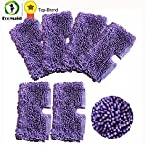HBK 6pcs Purple Microfiber Cleaning Mop Pads for Shark Floor Steamer Replacement Cleaning S3550 S3501 S3601 S3901(NOT The XL Size)