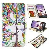 UrSpeedtekLive LG stylo 4 Case, LG stylo 4 Wallet Case, Premium PU Leather Flip Wallet Case Cover w/Card Slots & Kickstand Compatible LG stylo 4 (2018)/LG Q Stylus, Love Tree