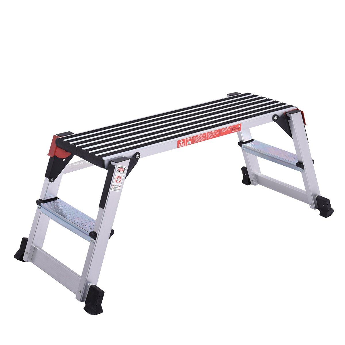 Giantex Aluminum Platform For Multi-Purposes