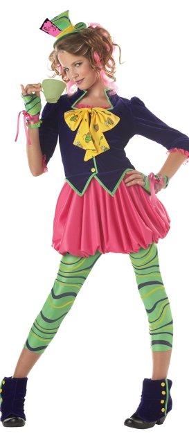 California Costumes Girls Tween Mad Hatter Costume