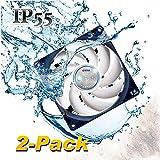 TITAN- 12V DC IP55 Waterproof/Dustproof Case Cooling Fan (140mm (2 Pack))