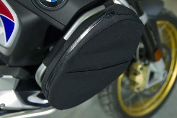 Ro-Moto Bolsas (1 par) para estribo de protección original compatible con BMW R1250GS Adventure (Negro)