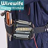 Magnetic Wristband - 15 Magnets for Holding Screws Nails Drilling Bits Gift for Men Him Dad DIY Handyman Electrician Husband Boyfriend Father Women Birthday Ideas (One Pair)