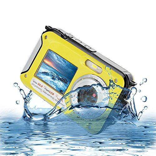 Underwater Digital Camera 24MP Waterproof Video Camcorder FULL HD 1080P Self Shot Dual Screen DV Recorder …