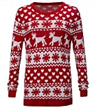 Product review for Alion Men's Warm Christmas Elk Prints Pullover Top Sweater