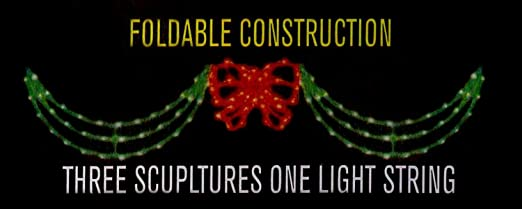 Christmas Light Swags And Bow Decoratingspecial Com