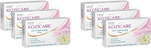 Kozicare Kojic Acid, Vitamin E, Arbutin Skin Whitening & Lightening Soap, 75g (Pack of 6)