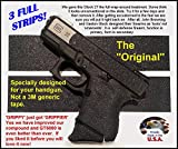 GT-5000 (3 Strips) Grip Tape for Guns, Cell Phones, Cameras, Knives, Tools - Makes Anything'Grippy'.