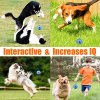 CHLEBEM Interactive Dog Toys, Dog Chew Toys Ball for Small Medium Dogs, IQ Treat Boredom Food Dispensing, Puzzle Puppy Pals Tough Durable Rubber Pet Ball, Best Cleans Teeth Dog Balls 5