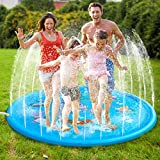 Syolee Splash Pad 68' Sprinkler Play Mat Inflatable Water Toys Outdoor Swimming Pool Toys for Babies & Toddlers