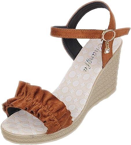 Zapatos de cuña de Mujer Calzado de tacón Alto y Plataforma Sandalias de Verano