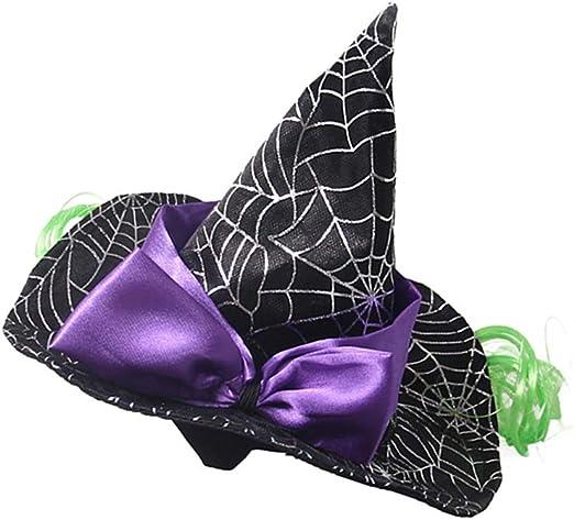 Amazon Com Popetpop 1pc Decorative Kawaii Cute Adorable Halloween Witch Hat Pet Hat Dog Cap Pet Cosplay Hat Pet Supplies Pet Supplies