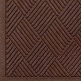 WaterHog Fashion Diamond-Pattern Commercial Grade Entrance Mat, Indoor/Outdoor Medium Brown Floor Mat 6' Length x 3' Width, Dark Brown by M+A Matting