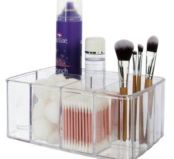 Premium Quality Clear Plastic Vanity Organizer | 5 Compartments
