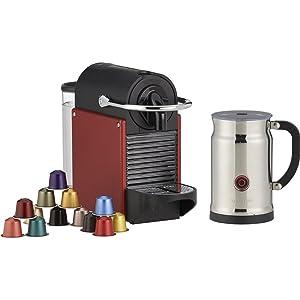 Nespresso Pixie Espresso Maker with Aeroccino Plus Milk Frother