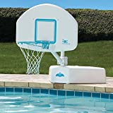 Poolside Outdoor Deck Top Selling Swimming Pool Basketball Backboard Adjustable Height Regulation Rim Net- Summertime Sports Competition Family Fun- Powder Coated Weather Resistant Portable Durable