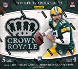 2015 Panini Crown Royale NFL Football EXCLUSIVE Factory Sealed Retail Box with TWO(2) AUTOGRAPH/MEMORABILIA Cards! Look for RC's & Autographs of Jameis Winston, Marcus Mariota & Many More!