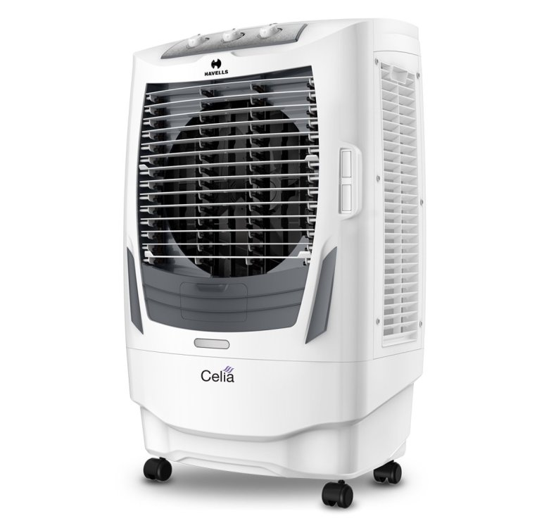 3. Havells 55 L Desert Air Cooler (White, Grey, Celia)