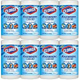 Clorox Anywhere Wet Wipes, Kid, Pet, Food Safe, Bleach-Free and Fragrance-Free, 75 Sheets 15.1 oz, 8-Pack