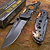 TAC-FORCE KNIFE Blade EMT EMS ORANGE Rescue Folding Pocket NEW