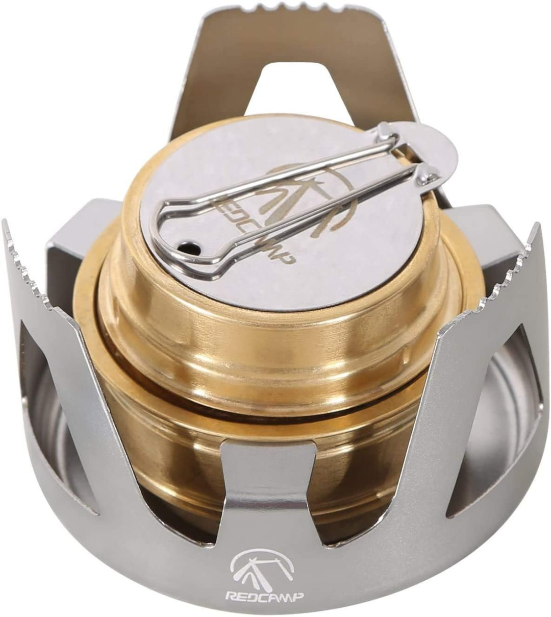 REDCAMP Alcohol Stove for Backpacking, Lightweight Brass Spirit Burner for Camping Hiking