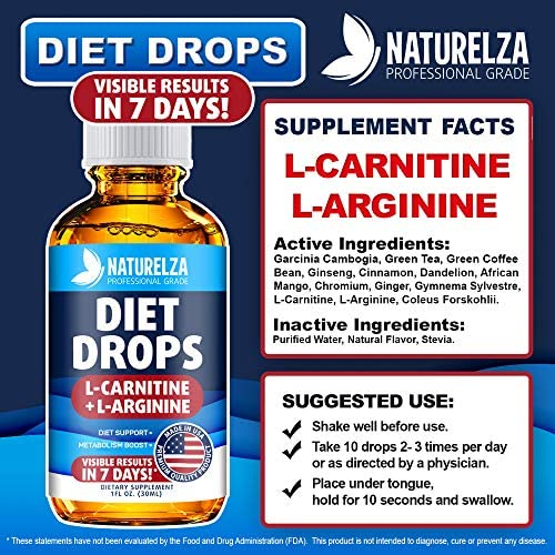Weight Loss Drops - Made in USA - Best Diet Drops for Fat Loss - Effective Appetite Suppressant & Metabolism Booster - 100% Natural, Safe & Proven Ingredients - Non GMO Fat Burner - Garcinia Cambogia 2