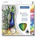 Staedtler Triangular Colored Pencils, Assorted Colors, Set of 72