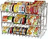 Stackable Storage Bins.DecoBros Supreme Stackable Can Rack Organizer.Chrome Finish.kitchen Cabinet Organizers.