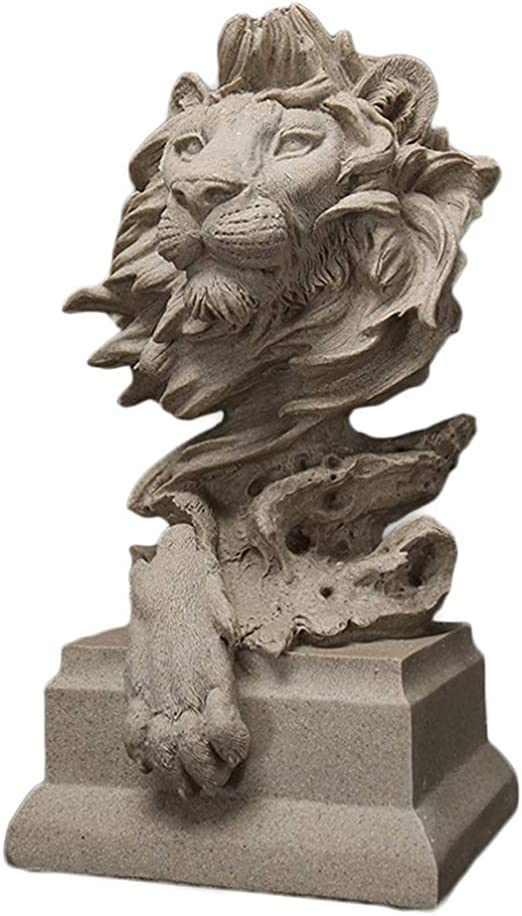 Amazon Com Jfdkdh Home Decorations Simple Lion Statue Creative Animal Artwork Ornaments Suitable For Living Room Porch Study Desktop Furnishings Home Kitchen