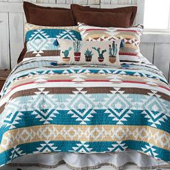 Canyon Springs Blue Southwest Quilt