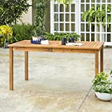 WE Furniture AZWSDTBR Outdoor Dining Table, 60', Brown