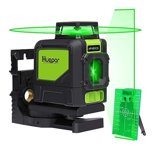 Huepar Cg Professional Laser Level Mute  Ft Green Beam Cross Laser Self Leveling