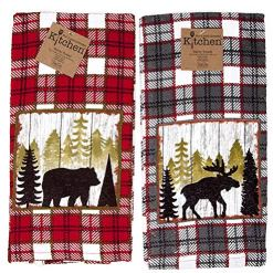 Cabin Kitchen Terry Towels 2pc Set