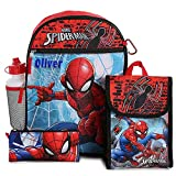 Personalized 16' Backpack with Bonus Lunch Bag, Pencil Case, or Carabiner Clip. (Personalized 16' Spider Man Backpack with Bonus Lunch Bag, Pencil Case, Water Bottle,and Carabiner Clip)