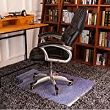 ART TO REAL Office Chair Mat for Carpet Floor, Rectangular Desk Chair Mat with Lip, Anti-Static Hard Floor Mats for Rolling Chairs, Standard Pile Carpet Protection Mat, BPA Free