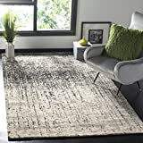 """Safavieh Retro Collection RET2770-9079 Modern Abstract Black and Light Grey Area Rug (8'9"""" x 12')"""