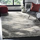 Safavieh Retro Collection RET2891-8012 Modern Abstract Grey and Ivory Area Rug (6' x 9')