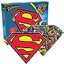 Aquarius Superman Logo 2 Sided, Shaped Puzzle (600 Piece)