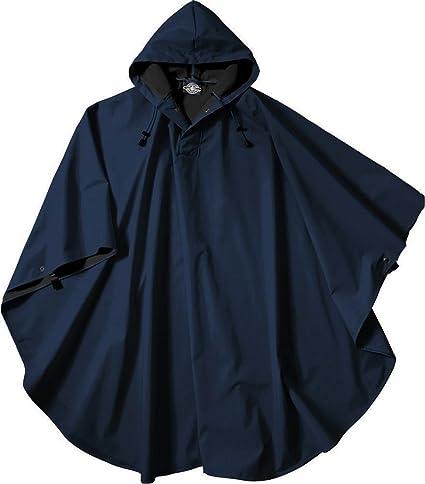 Plastic hooded rain poncho