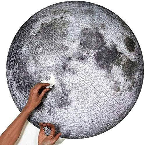 KAIYU Moon Puzzle,Gradient Puzzle, Round Puzzle, Jigsaw Puzzles 1000 Pieces for Adults, Large Round Jigsaw Puzzle, Educational Gifts for Teens, Decompression Puzzle Educational Game