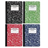 Staples Wide Ruled Composition Books 4 Pack Blue Red Green Black 100 Pages