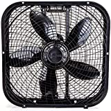 Holmes HBF2001DP-BM 20-Inch Box Fan,Black