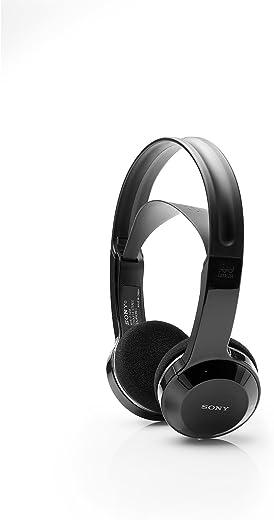 Sony Cordless Rechargeable Lightweight Headphones-Black