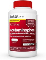 Amazon.com: Basic Care Acetaminophen Extended-Release Tablets, 650 ...