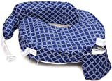 My Brest Friend 100% Cotton Nursing Pillow Original Slipcover – Machine Washable Breastfeeding Cushion Cover - Pillow not Included, Navy/White