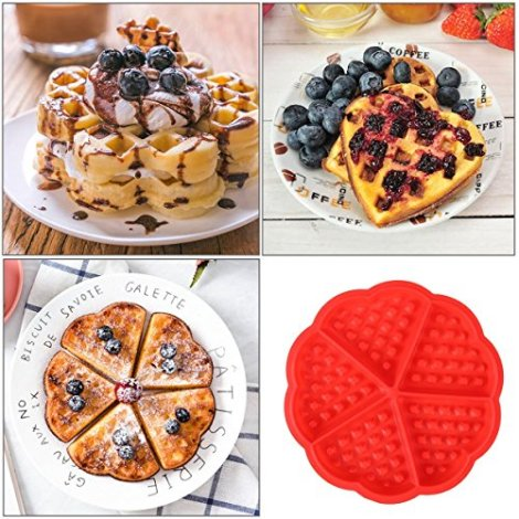 Stampini in silicone per waffle o cioccolato