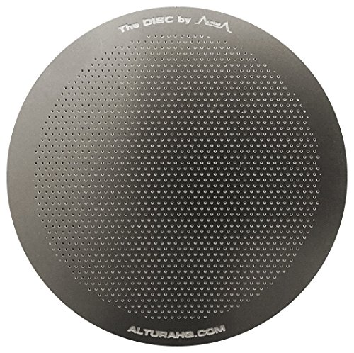 The DISC: Premium Filter for AeroPress Coffee Makers by ALTURA +  eBOOK with Recipes, Tips, and More – Stainless Steel, Washable & Reusable.