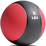 Titan Fitness Weighted Medicine Ball 6 lb Rubber Muscle Driver Sport Therapy WOD